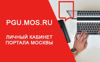 Какие услуги доступны в личном кабинете Мос.Ру?